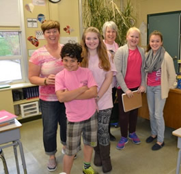 A huge thank you to Glanford Middle School for promoting Pink Shirt Day today!